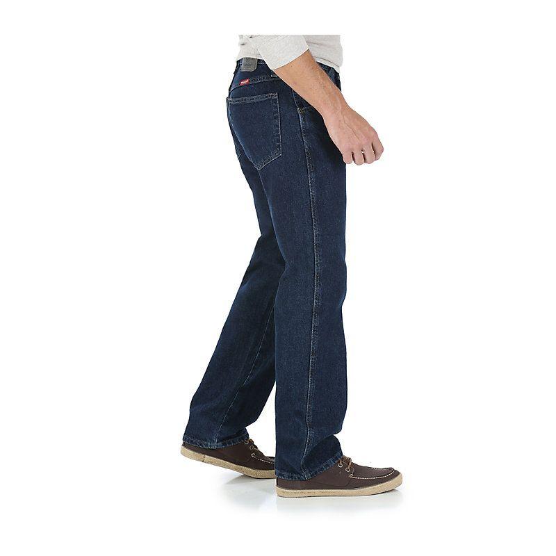 1834f8315ab573 Wrangler Men's Five Star Premium Denim Regular Fit Jeans (Size: 31 x 32)  Dark Blue