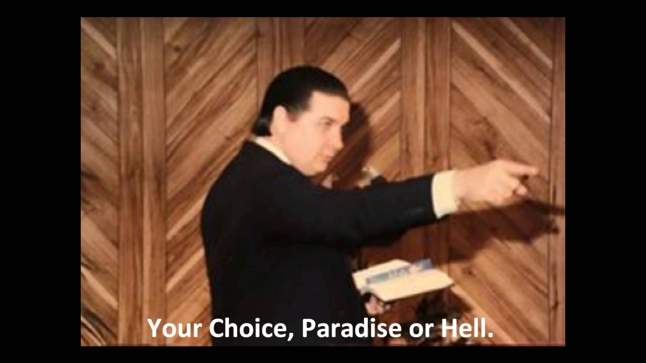 Your Choice, Paradise or Hell?  R.A.West