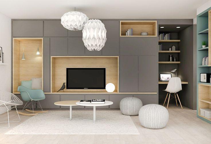Give Your Home A Glowing Upgrade The Light Chain Pink Gray Looks Diy Living Room Wohnungsplanung Einbauschrank Wohnzimmer Wohnen Und Leben