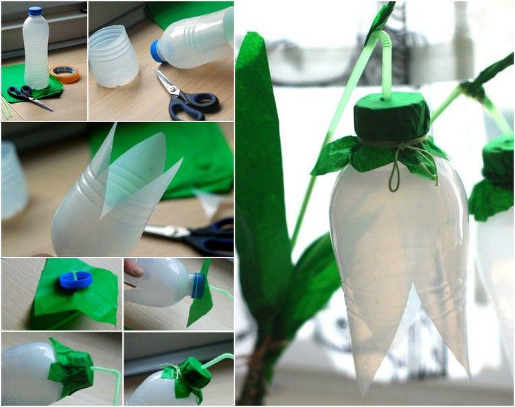 Schneeglockchen Basteln Upcycling Plastikflaschen Deko Crafts