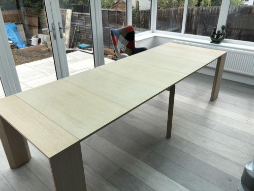 Ozzio Design Golia.Ozzio Golia Space Saving Extending Table In Light Oak Seats