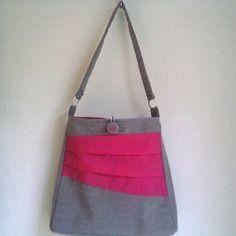 e9ca733675 Sac bandoulière original laine feutrée et soie rose | sacs | Sac ...