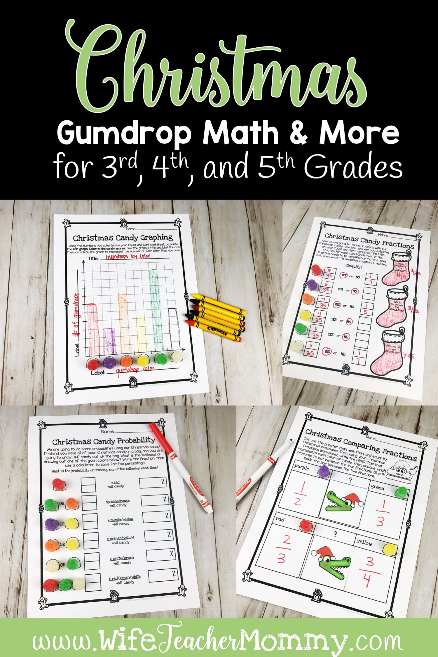 Christmas Gumdrop Math For 3rd Grade 4th Grade And 5th Grade Christmas Math Activities Christmas Math Centers Graphing Activities [ 2249 x 1501 Pixel ]