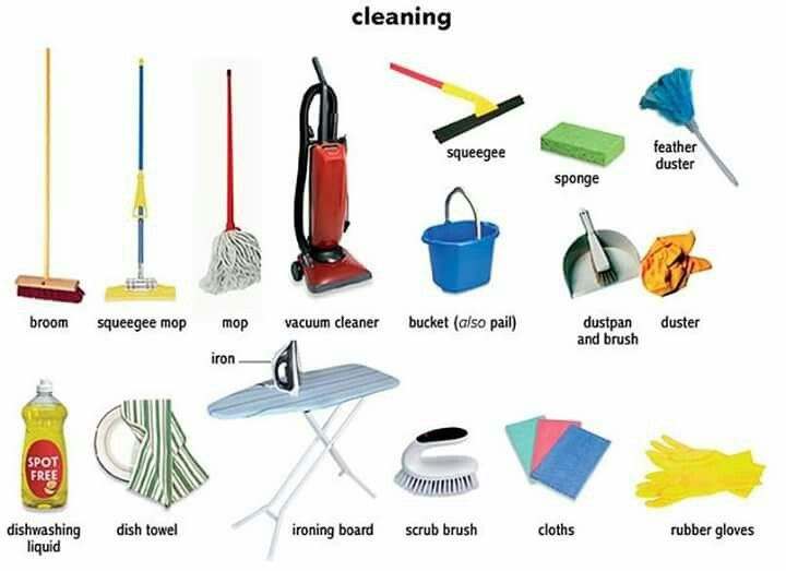 Cleaning Cleaning Items Cleaning English Fun