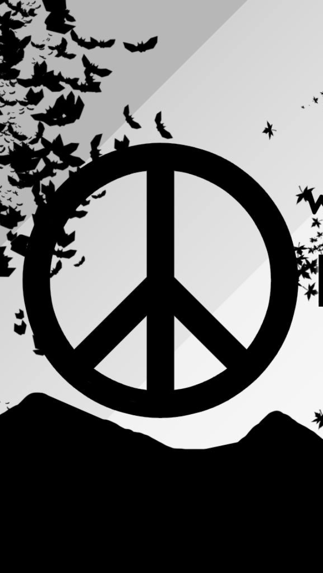 Hd Peace Sign Wallpaper Peace Iphone Wallpaper Iphone Wallpaper Peace