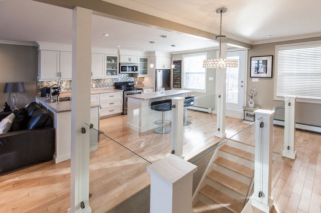 Pin By Nancy Sherman Piotrowski On Stairway Designs For Existing   Basement Stairs In Kitchen   Ranch   Both Side   Dining Room   Open Concept   Galley