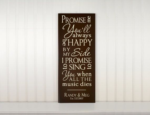 Your Wedding Song Lyrics Personalized Love Quote Sign First Dance Marry Me By Train