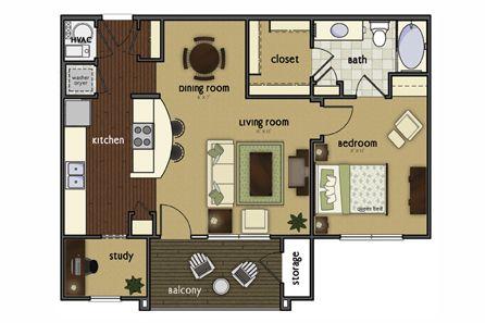 Floor Plan The Harrison At Broadmoor Hills Affordable Apartments Floor Plans Living Room Kitchen