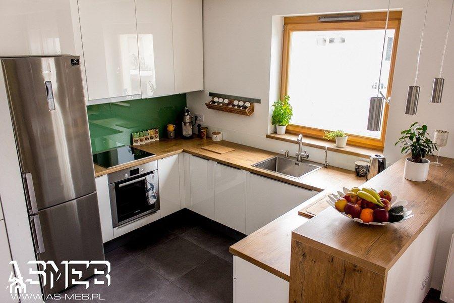 Aranzacje Wnetrz Kuchnia Realizacja Wilanow Srednia Otwarta Kuchnia W Ksztalcie Litery U Z Wyspa Styl Klasyczny As Kitchen Home Decor Kitchen Cabinets