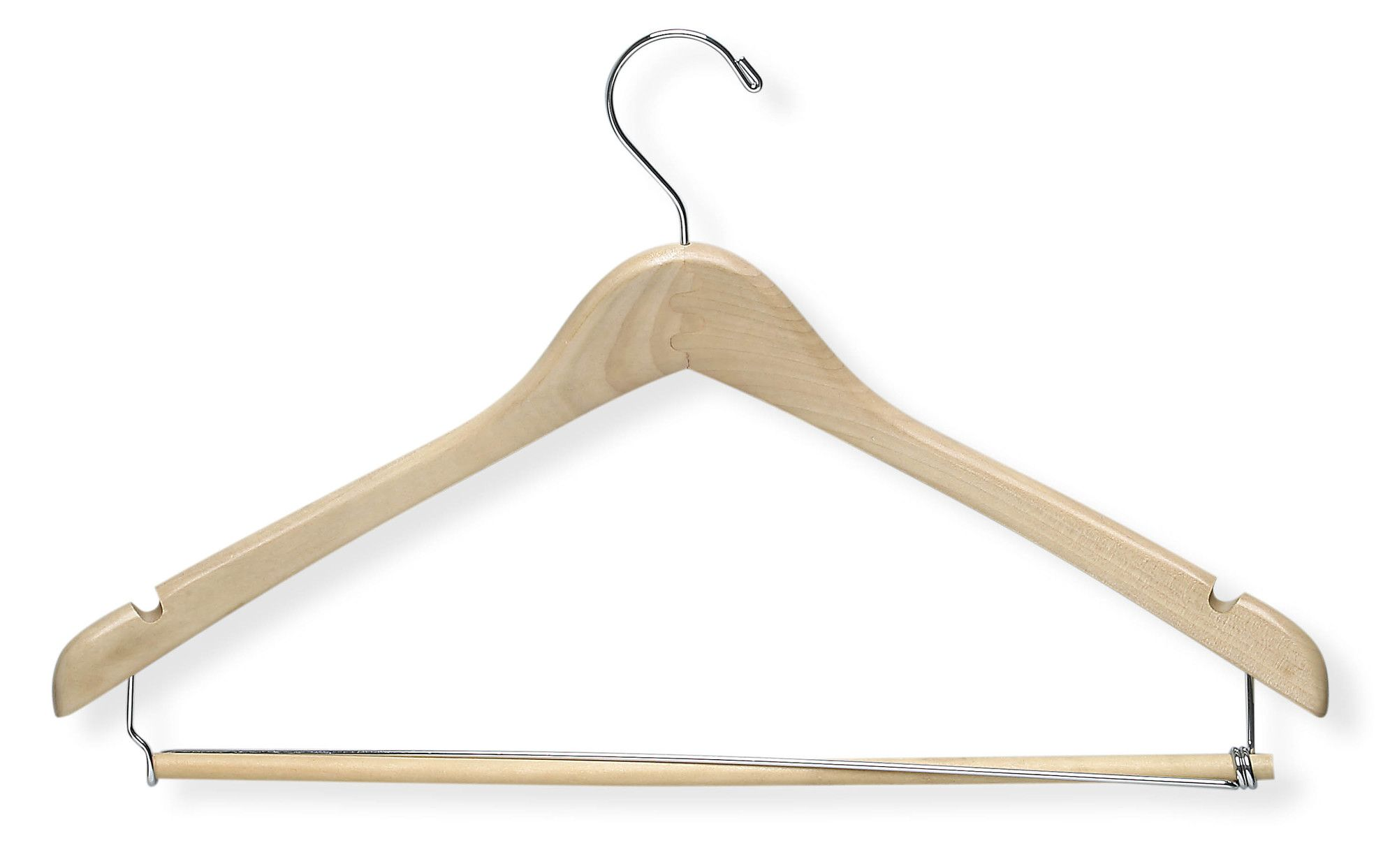 Contoured Suit Hanger with Locking Bar (Set of 2)