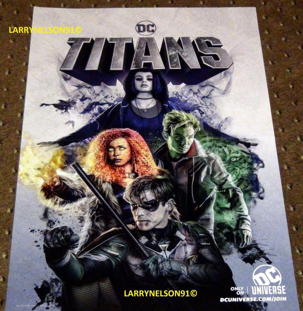 Titans Poster Dc Comics Raven Starfire Robin Beast Boy -9502