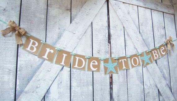 Bridal Shower bannerbeach theme wedding Starfish banner Bride
