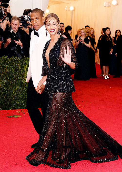 Jay-Z and Beyonce at the Costume Institute Gala at the Metropolitan Museum of Art on May 5, 2014