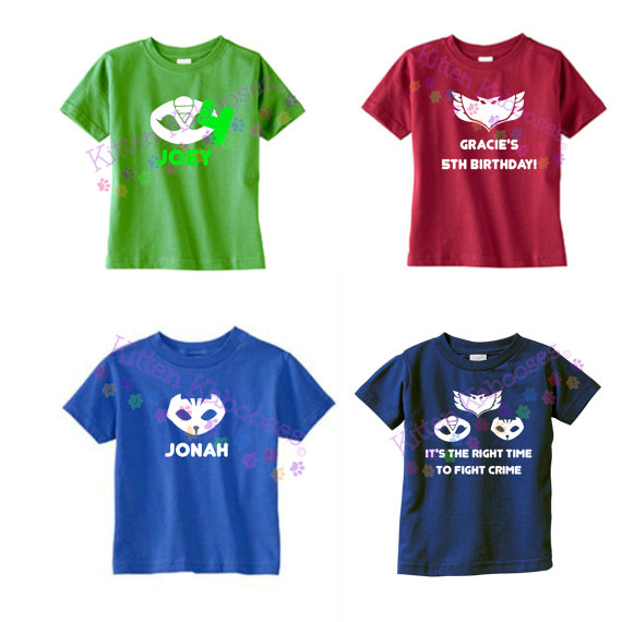 2f14ffd8c79 PJ Masks Superhero T-shirt with Custom by kittenkabooses on Etsy ...