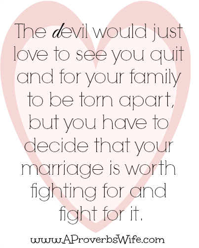 why should i fight for my marriage