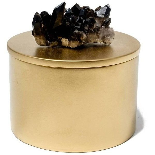 Round Decorative Boxes Magnificent Mapleton Drive Round Gold Lacquer Box With Smokey Quartz Gold 2018