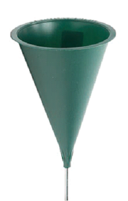 This 10 Inch Hard Plastic Cemetery Cone Vase Comes With A