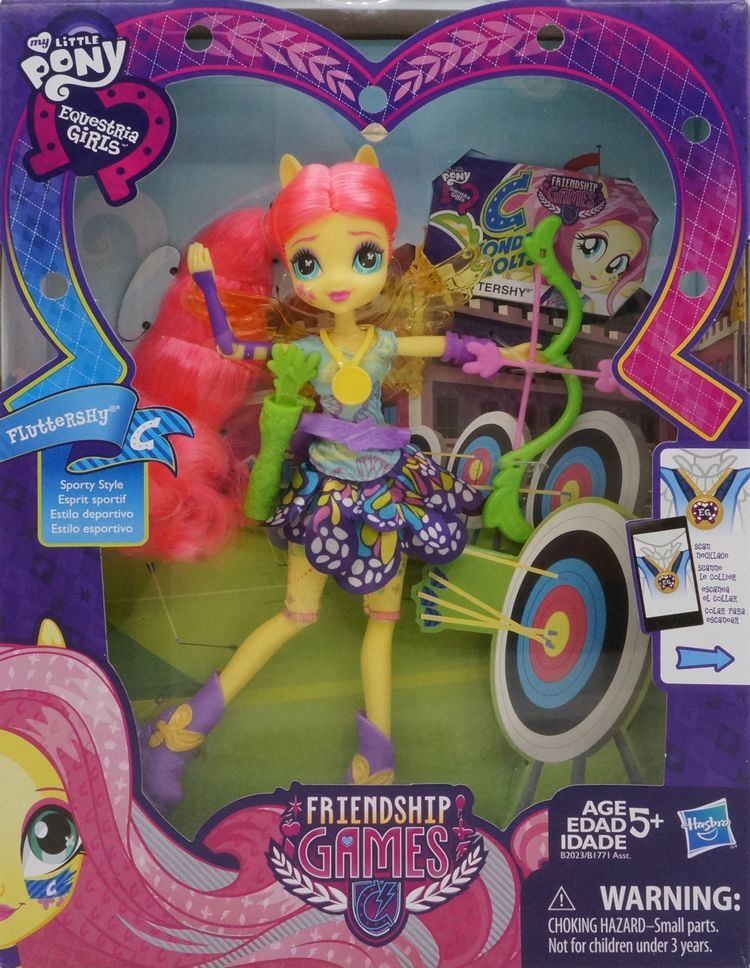 Fluttershy Friendship Games Sporty Style Deluxe Archery Equestria Girls Doll