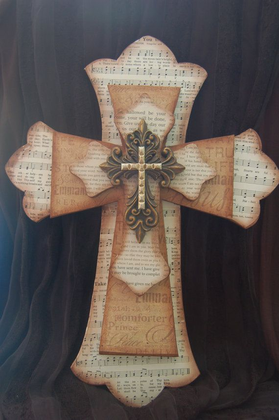 Four Layered Cross Rich Browns Cross Crafts Cross