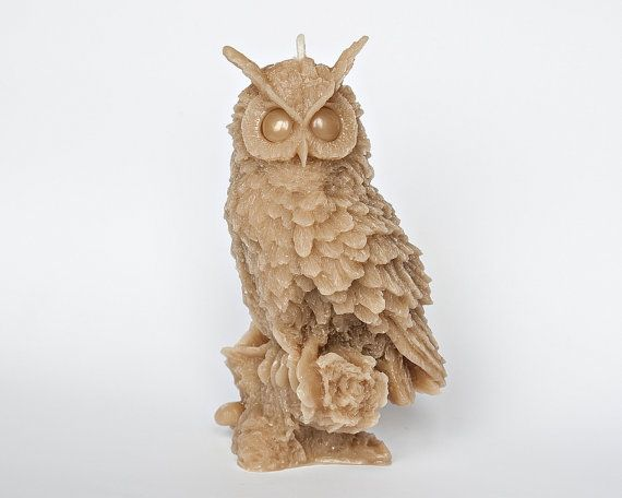 20  OFF  Big Owl candle Beeswax candle Eco by RomanticCandle