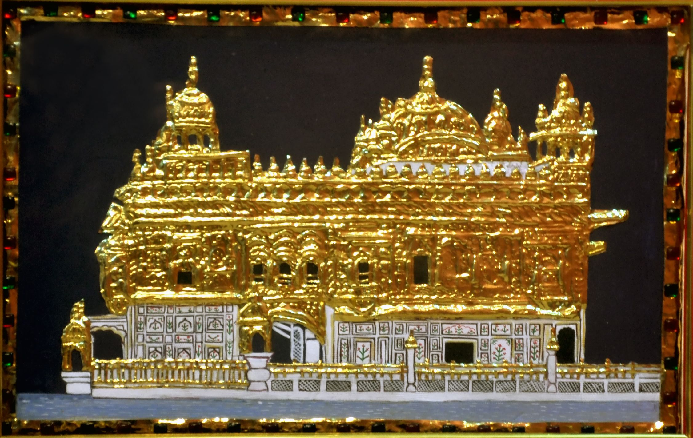 Beautiful Golden Temple In Tanjore 18 Inches By 13 Inches Attractively Framed Ready To Adorn The Wall Tanjore Painting Popular Art Thanjavur