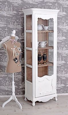 details zu retro vitrine schrank hochschrank vintage vitrinenschrank antik weiss shabby. Black Bedroom Furniture Sets. Home Design Ideas