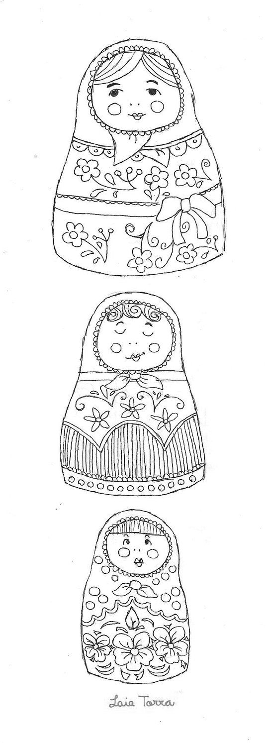 russian folk art coloring pages - photo#20