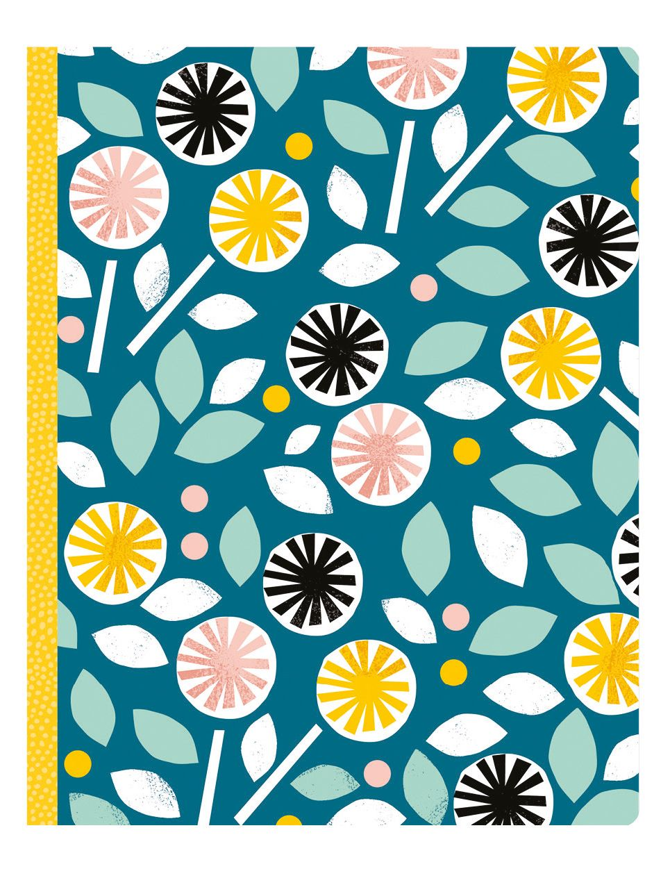 Lovely notebook by Lorena Siminovich #petitcollage #pattern
