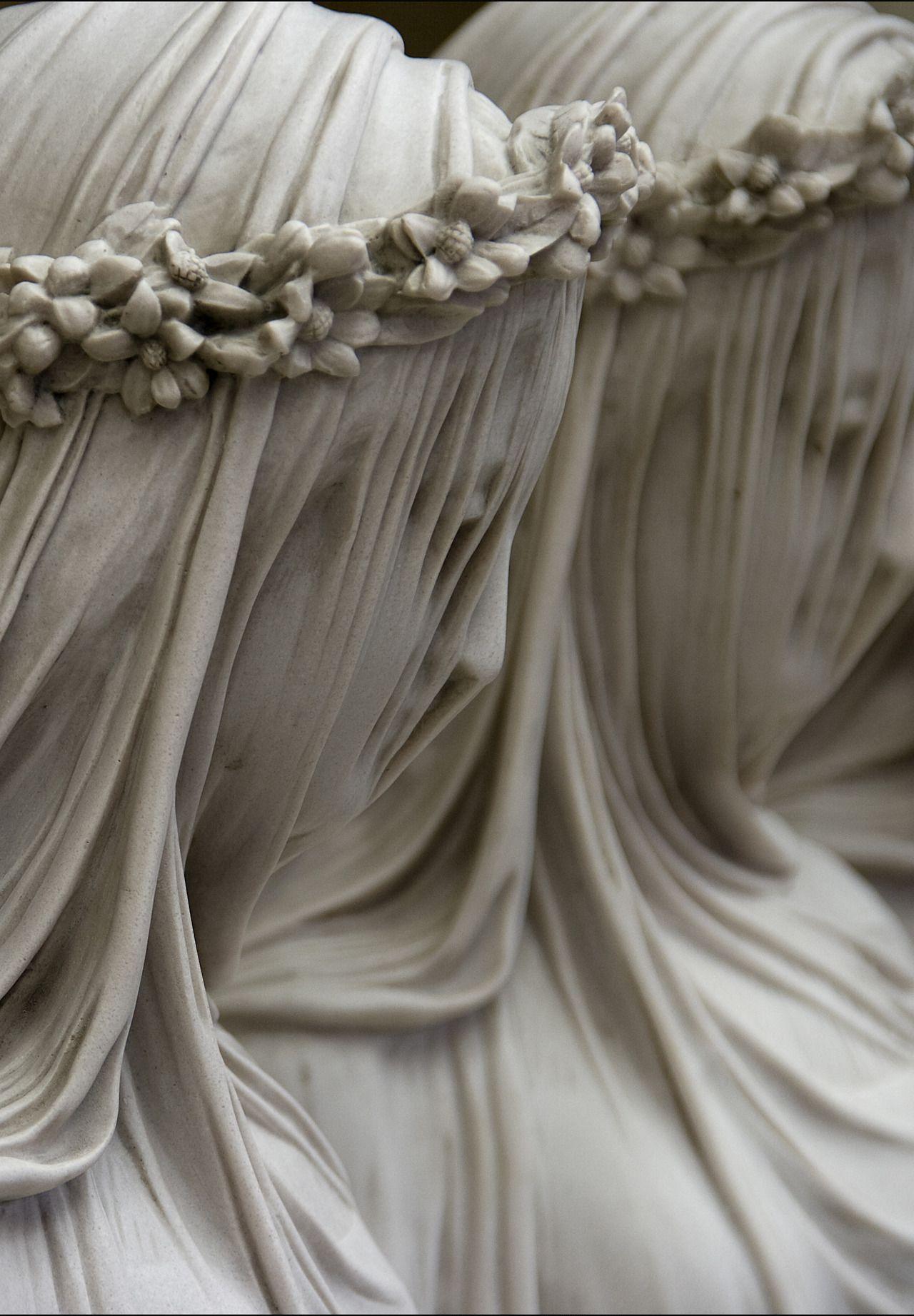 Veiled Figures Raffaelo Monti 1818 1881 Art
