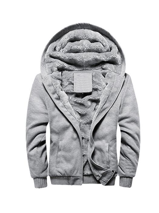 Jaycargogo Mens Winter Warm Thick Zip up Fleece Camouflage Print Hooded Parka Coat