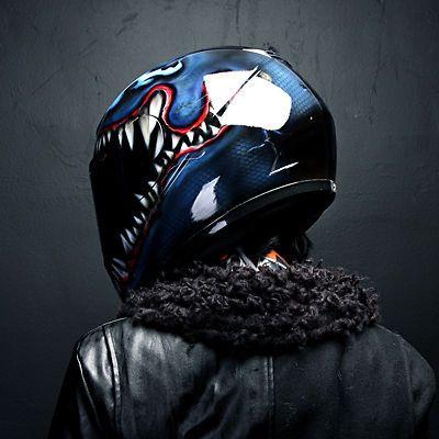 Venom Airbrushed Motorcycle Helmet Full Face Paint Dot