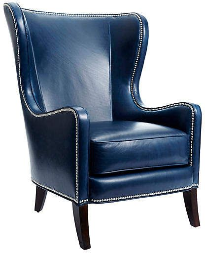 Dempsey Wingback Chair - Massoud - frame, dark brown ...