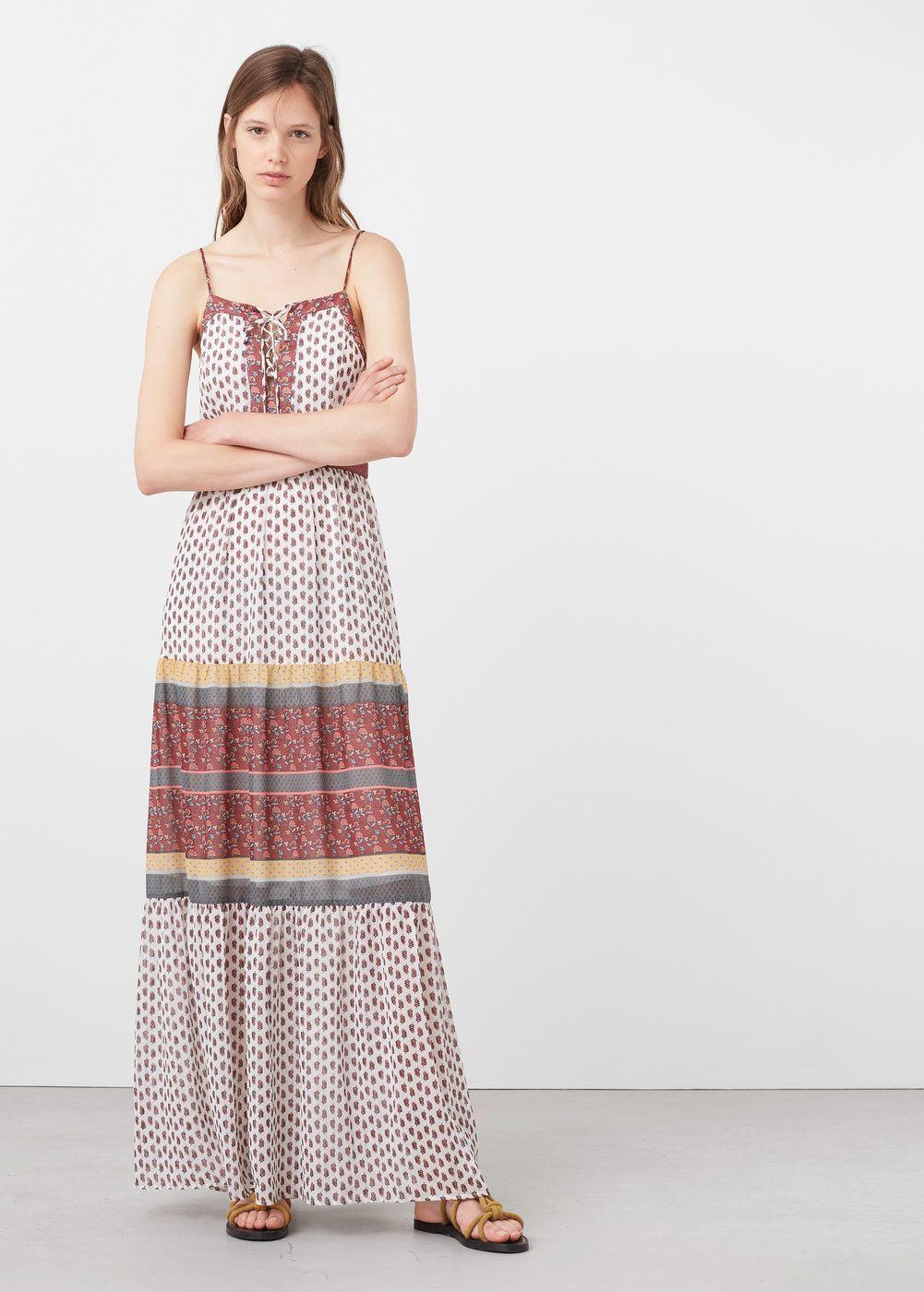 Vestido estampado geometrico mango