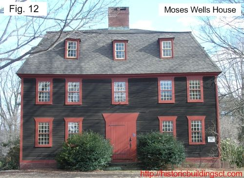 Historic buildings of connecticut colonial houses the for New england colonies houses