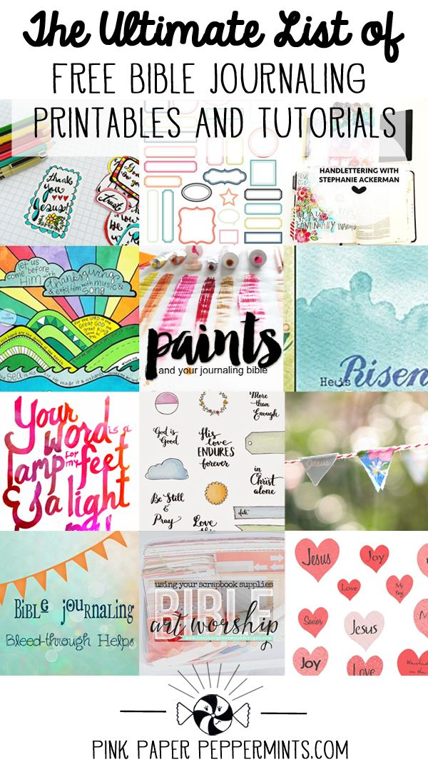 A List Of All The Tutorials And Printables I Could Find For My Journaling Bible Plus Favorite Websites Blogs Art