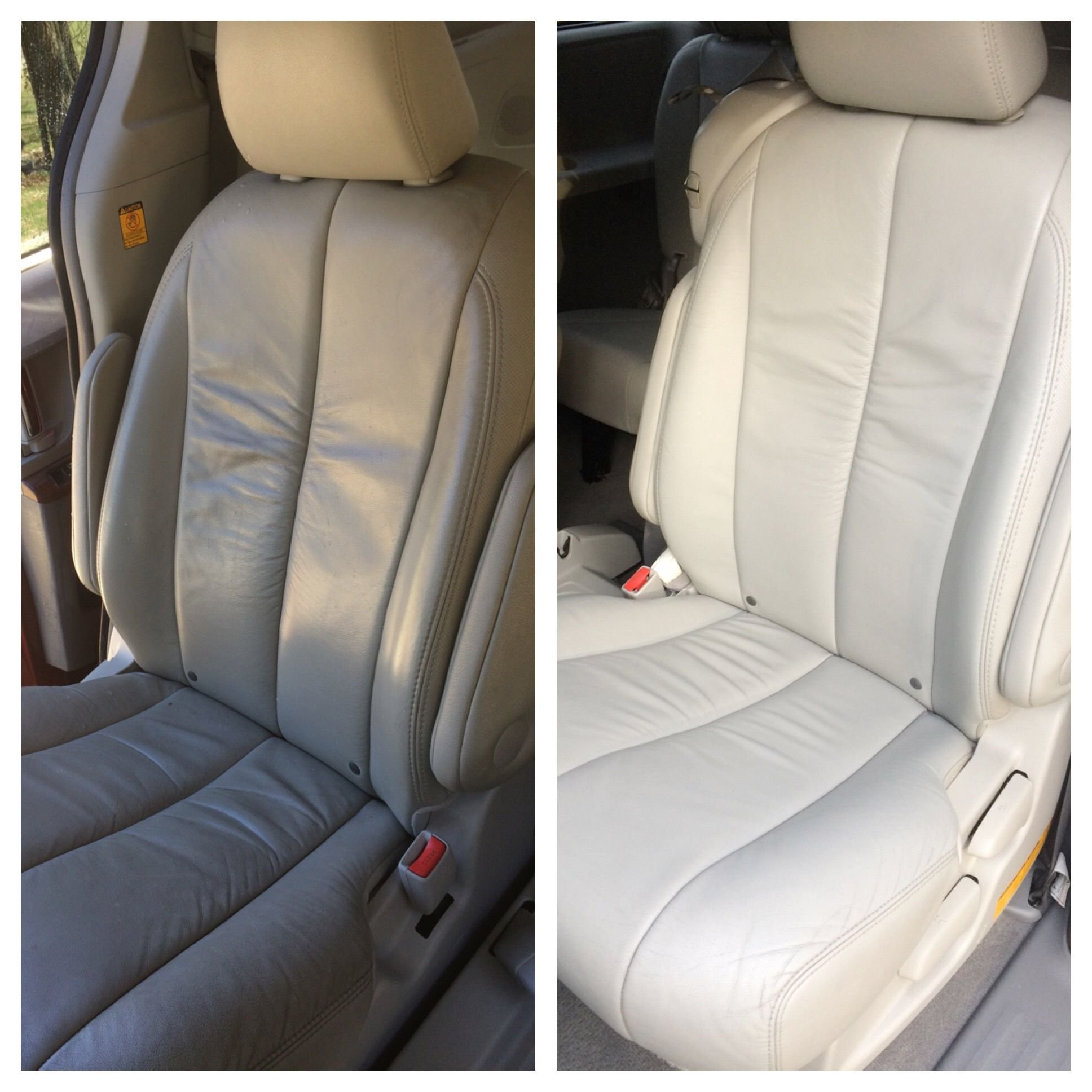 Deep Cleaning Leather Seats Car