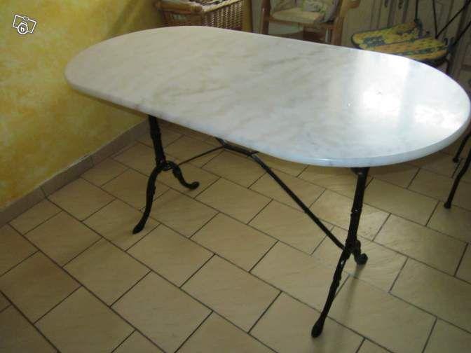 Table Bistro Avec Plateau En Marbre Gris Ameublement Val D