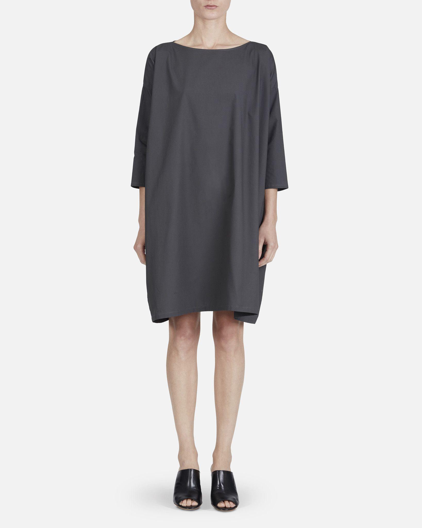 Slim Sleeve Dress - Grey