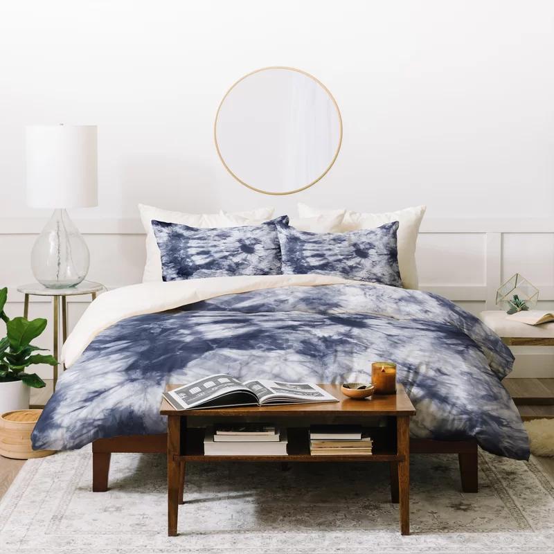 Amy Sia Polyester Duvet Cover Set In 2021 Shibori Duvet Cover Duvet Sets Blue Duvet