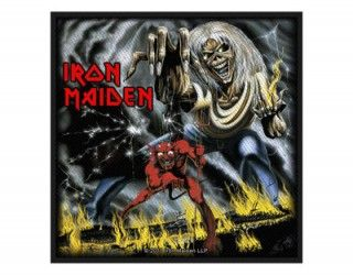 Iron Maiden Number Of The Beast Woven Patch Iron Maiden Album