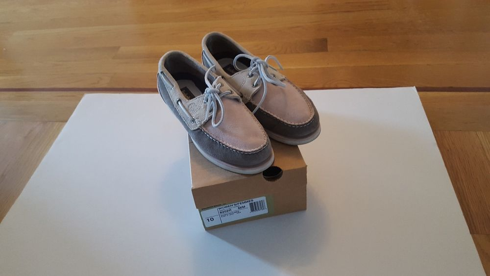 62e8df6efd1 TIMBERLAND WOMEN S BOAT SHOE 8202R SIZE 10 MED PINK AND GRAY ORIG.  120.
