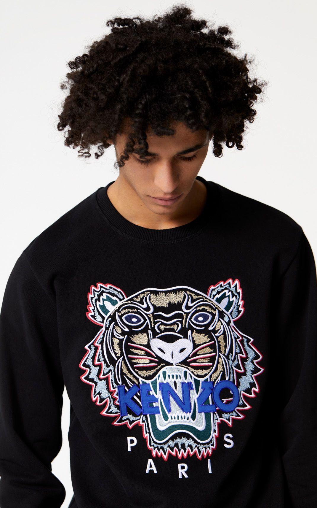 Kenzo Jumping Tiger Embroidered Logo Print Cotton Sweatshirt In Blue Modesens Tiger Sweatshirt Kenzo Tiger Sweatshirt Sweatshirts [ 2136 x 1600 Pixel ]