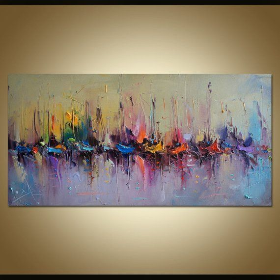 Contemporary Art, Abstract Seascape Painting, Oil Painting Original, Abstract Canvas Art, Bedroom Decor, Family Wall Art, Large Oil Painting