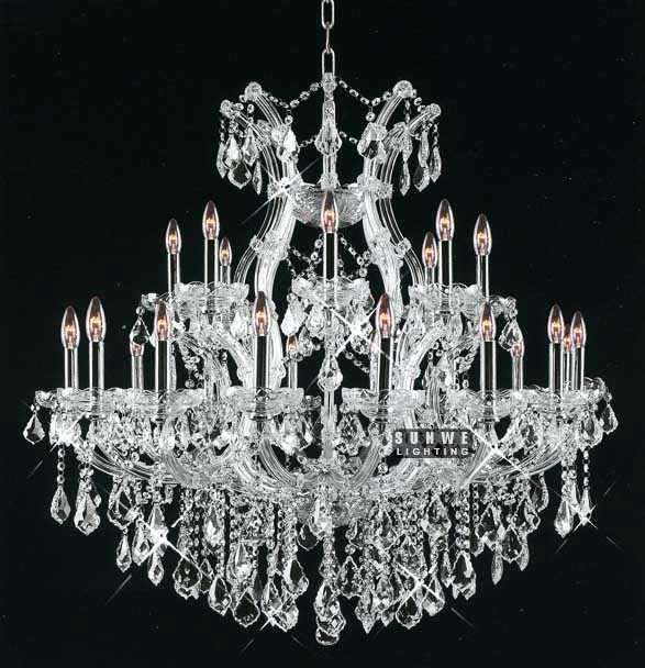 Aliexpress Buy Polished Chrome Glass Crystal Chandelier Lamp 25 Lights Lighting For Dining Room C9074 91cm W X H From Reliable