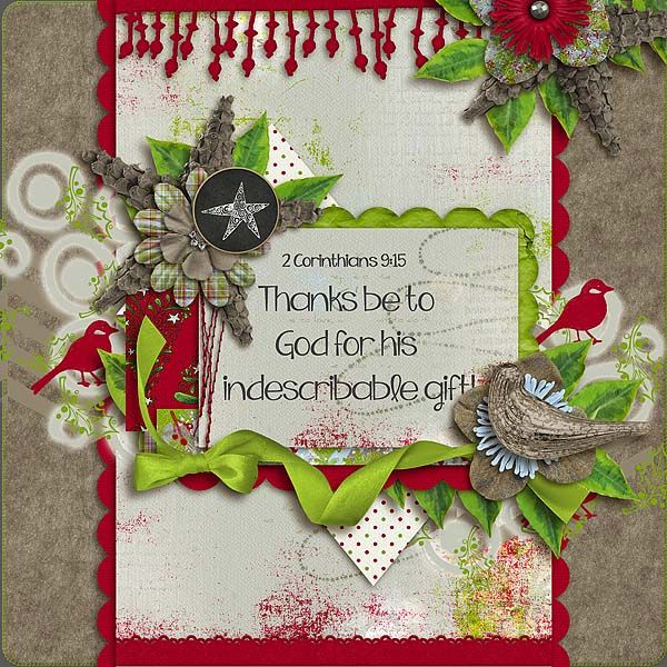 Scrapping Scripture Challenge - December 2015 :: Create a layout that includes the Why of Christmas; @ gottapixel.net Example 2