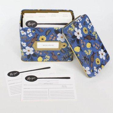 Boîte à Recettes Capri Rifle Paper co sur le souci du détail