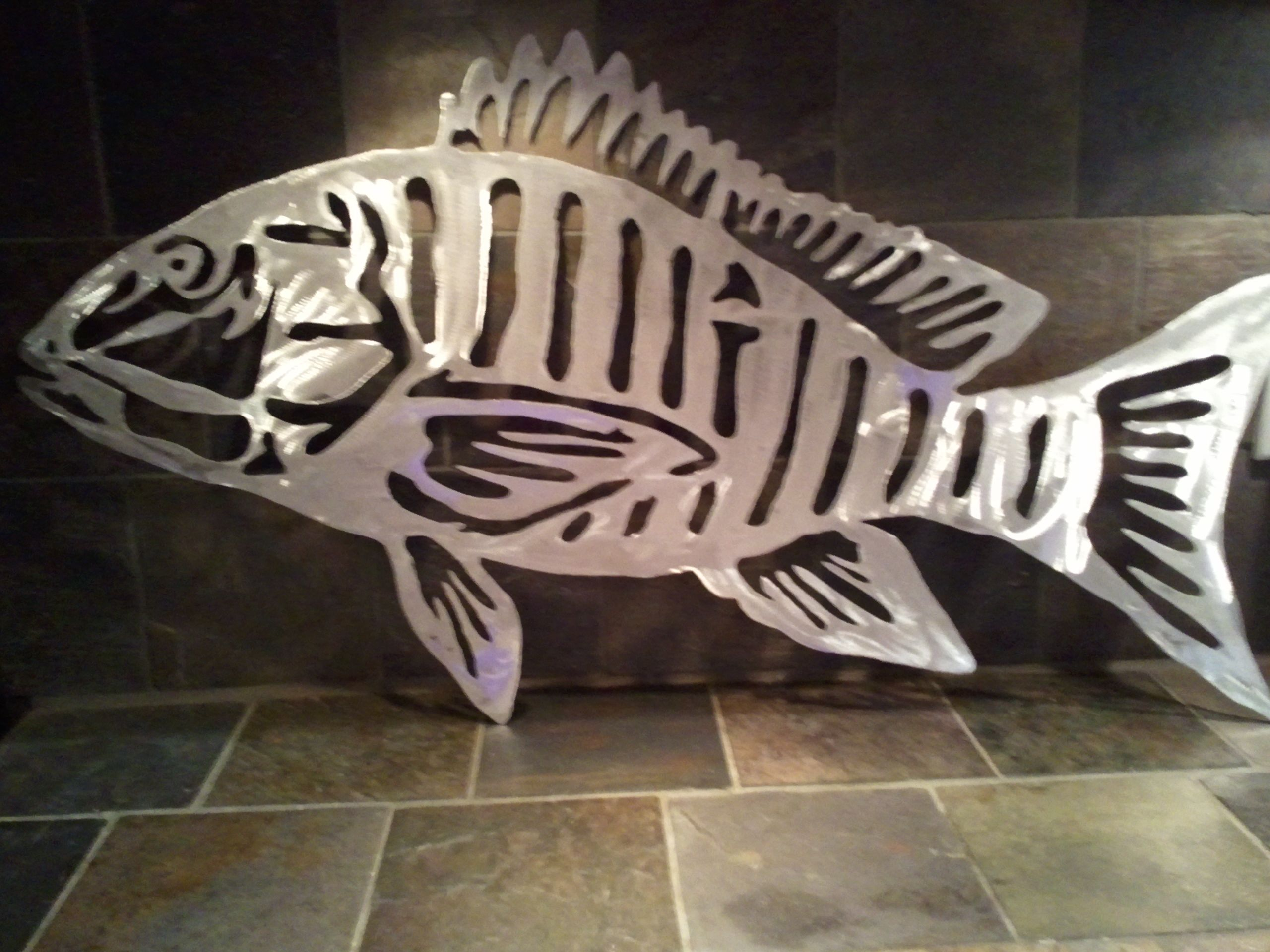 Metal Art Fish Aluminum Bonefish Sculpture