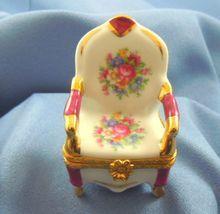 Limoges porcelain box Victorian needlepoint charm