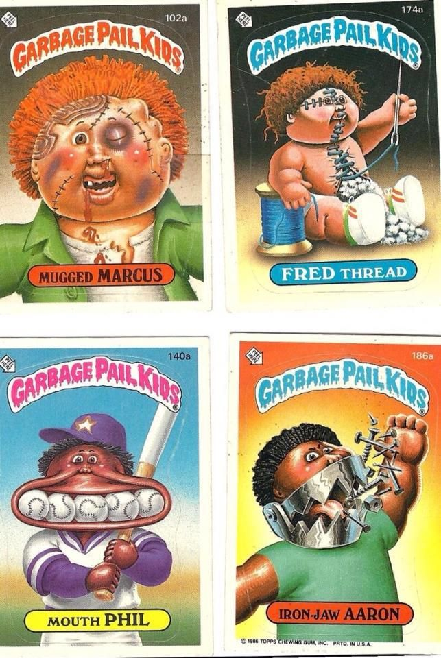 Pin By Lori Woods On Blast From My Past Luv It Garbage Pail Kids Cards Garbage Pail Kids 80s Kids