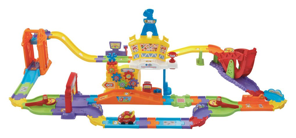 The Vtech Toot Toot Drivers Super RC Raceway Playlist is a